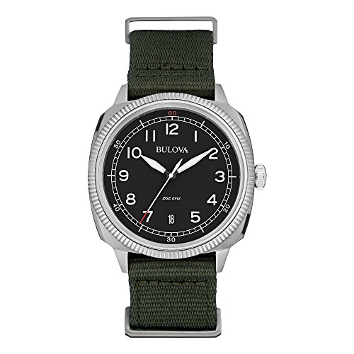 Analog Display Japanese Quartz Green Watch (Accutron Band Wrist Watch)
