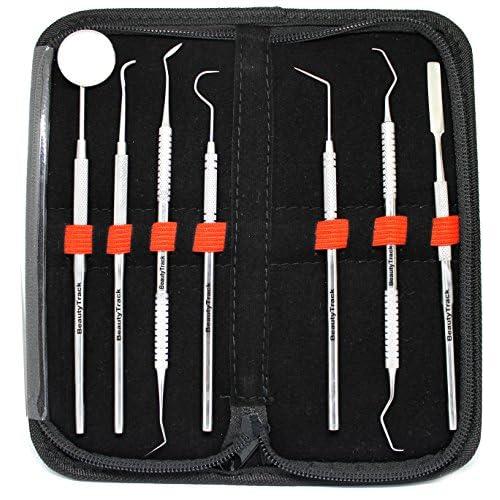 Nouveau détartreur de dents dentaires grattoir dentaire et scaler dentaire 7 pcs set seulement de BeautyTrack