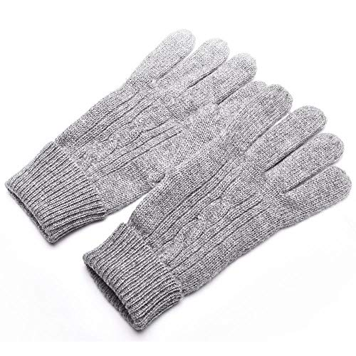 NuoEn Gloves, Winter Warm Thick Gloves Classic Twisted Flower Fashion Warm Gloves ()