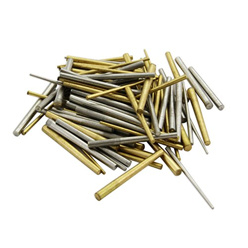 (100 x Clock taper pins steel brass assorrted mix sizes pin tapered repairs parts)