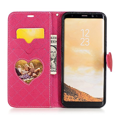 with Glass Screen Fashionable Style Shell Fax S7 Samsung Cross Purple Surface Contrast Stylish Design Original Case Free JGNTJLS Colorful Wrinkle LOVE Galaxy Embossing Protector Cute New Leather Tempered P0ZqZvx