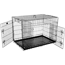 """2203 Pet Trex Premium Quality 42"""" Folding Pet Crate Kennel Wire Cage for Dogs Cats or Rabbits"""