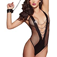 Women Lingerie, ღ Ninasill ღ Hot Sale ! Lace Backless Jumpsuit Sexy Lingerie Bodysuit Pajamas Underwear (Black)