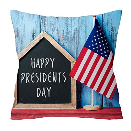 QBQCBB Independence Day 4th of July Pillow Cases Sofa Cushion Cover Home Pillow Case(H)