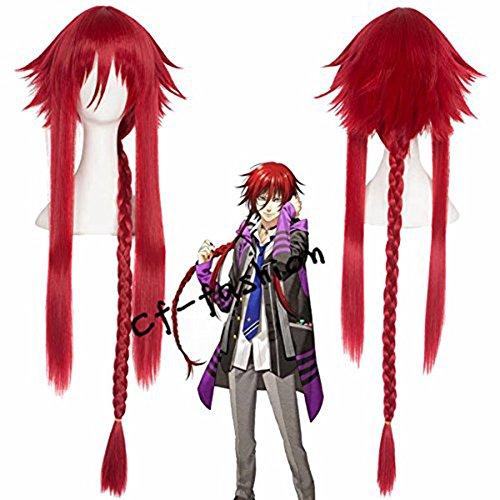 Cfalaicos Kamigami No Asobi Loki Laevatein Designed Layered Red Long Cosplay Wig