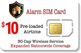 Alarm SIM Card For GSM Home/Business Security Alarm System - 30 Day Service - Nationwide Coverage