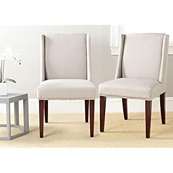 Safavieh Mercer Collection Humphry Dining Chair Taupe Set Of 2
