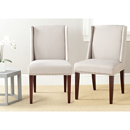 Safavieh Mercer Collection Humphry Dining Chair, Taupe, Set of 2 -  MCR4713A-SET2