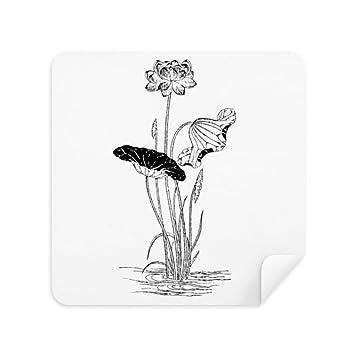 Lotus Flower Water - Gafas de limpieza de tela de ante para limpiaparabrisas (2 unidades), color blanco y negro: Amazon.es: Electrónica