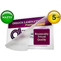 Oregon Lamination Hot Laminating Pouches Small Menu (pack of 100) 5 Mil 11-1/2 x 17-1/2 Matte/Matte