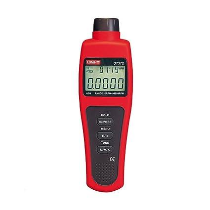 Gankmachine Sensor de Velocidad de Interfaz Uni-T UT372 tacómetros sin Contacto Rango Objetivo RPM