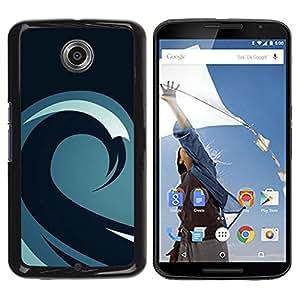 Be Good Phone Accessory // Dura Cáscara cubierta Protectora Caso Carcasa Funda de Protección para Motorola NEXUS 6 / X / Moto X Pro // Minimalist Wave Pattern