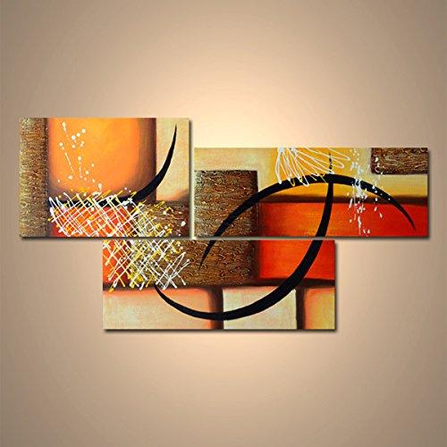 【モダン油絵工房】 油絵 現代絵画 手書きモダン油絵 抽象画ライン 2FAE-1194 40×60cm, 30×80cm B01NCVVCHP抽象画1194番