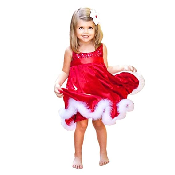 17bb33c54e25 Luhan Baby Girls Dresses,Girls Dress,Kids Party Red Tutu Dresses Xmas Gift,Christmas  Dress: Amazon.in: Clothing & Accessories