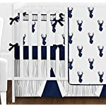 Sweet-Jojo-Designs-9-Piece-Navy-Blue-White-and-Gray-Woodland-Deer-Print-Crib-Baby-Bedding-Set-with-Bumper-for-a-Newborn-Boy