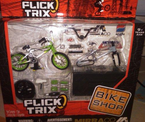 Flick Trix Fingerbike Shop Mirraco Green / Pearl Frame Silver / Grey Frame