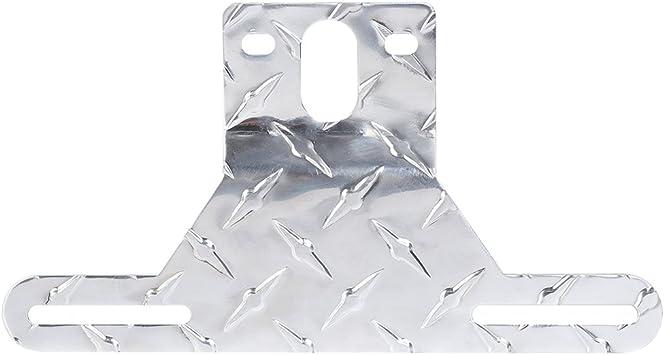 Dan/&Dre Aluminum Trailer License Plate Light Bracket Metal License Plate Holder with Light Mount for Trailers Trucks Cars