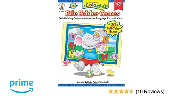 Amazon colorful file folder games grade pk skill building amazon colorful file folder games grade pk skill building center activities for language arts and math colorful game books series 0044222158262 fandeluxe Gallery