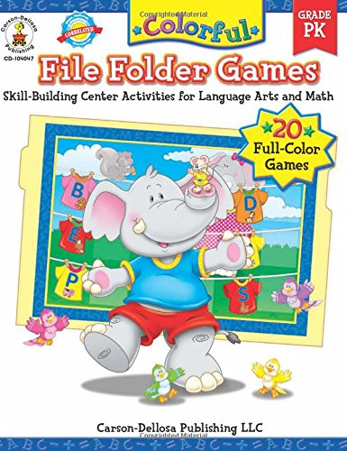 Colorful File Folder Games, Grade PK: Skill-Building Center Activities for Language Arts and Math (Colorful Game Books S