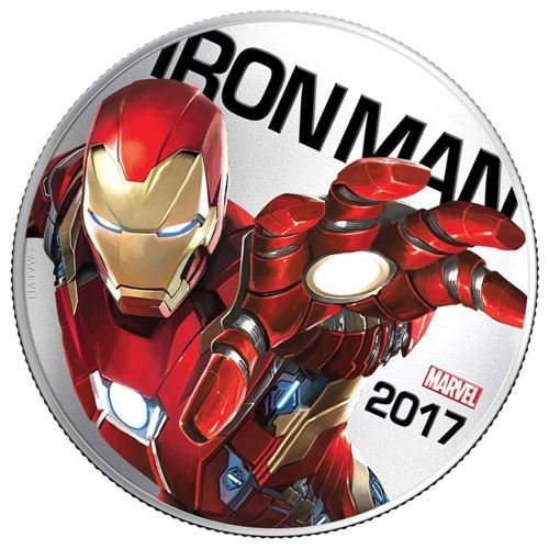 2017 FJ Iron Man Marvel Light-UpsTM Illuminating Coins Silver Clad Half Dollar Limited Mintage 50,000 50 Cent Uncirculated ()