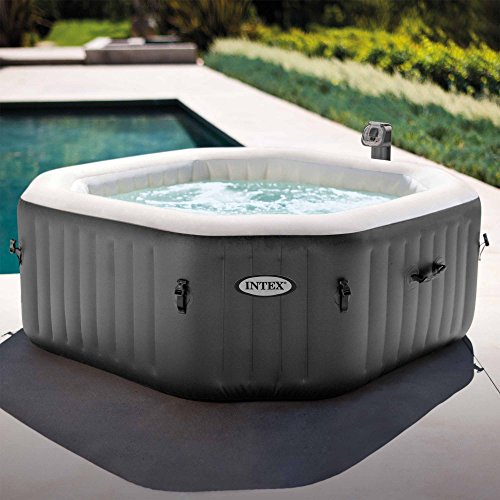 4 Person Octagonal 210 Gallon Spa with 120 Bubble Jets by Intex