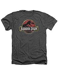 Jurassic Park Action Film Steven Spielberg Stone Logo Adult Heather T-Shirt Tee