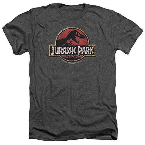 Jurassic Park Stone Logo Mens Heather Shirt
