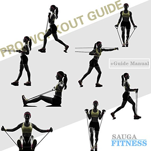 Resistance Band Set With Handles Include 5 Adjustable