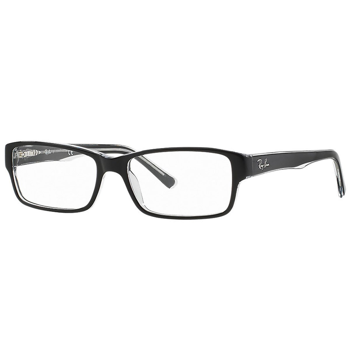 RAY BAN Authentic 5169 clear top black on transparent 2034 ,Designer Eyeglasses