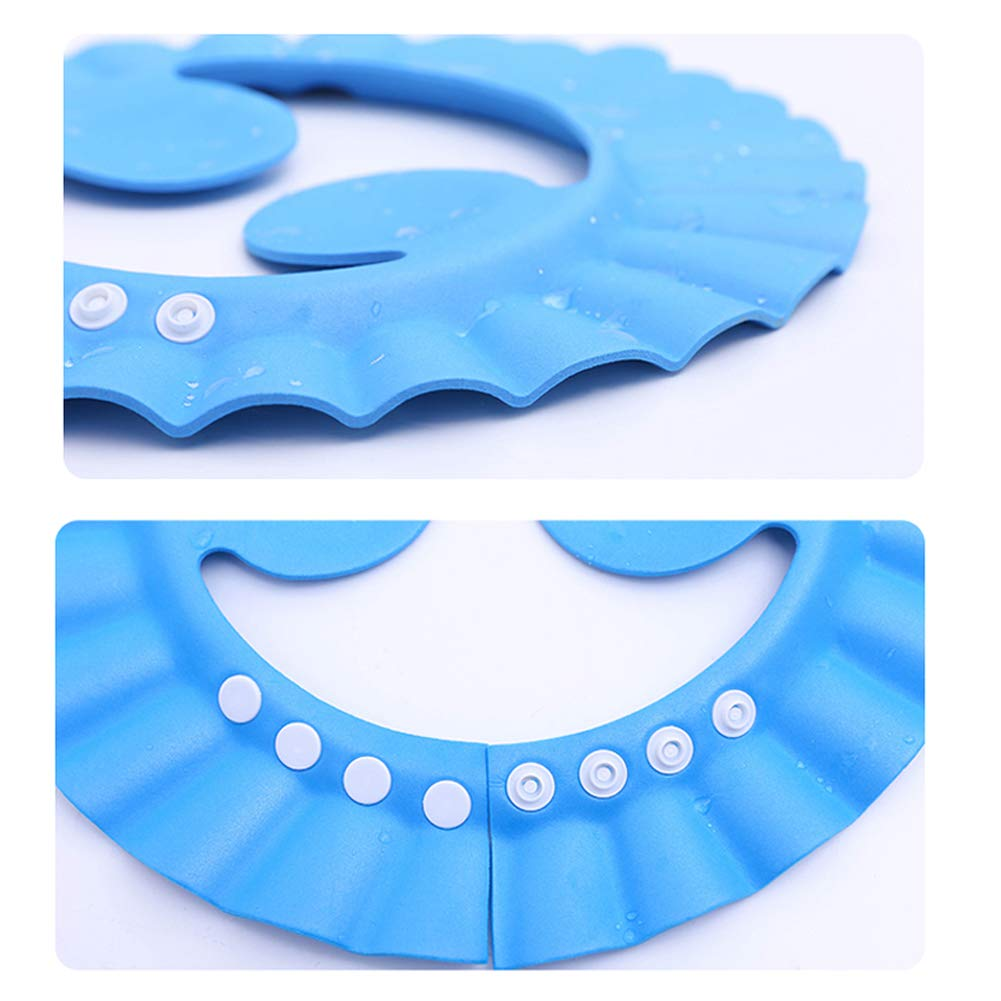 Soft Cap Adjustable Bathroom Sun Visor Suitable for 0-3-10 Years Old TF 3 Pieces Baby Shower Shampoo Bath Protection Cap Waterproof Ear Protection Eye Protection