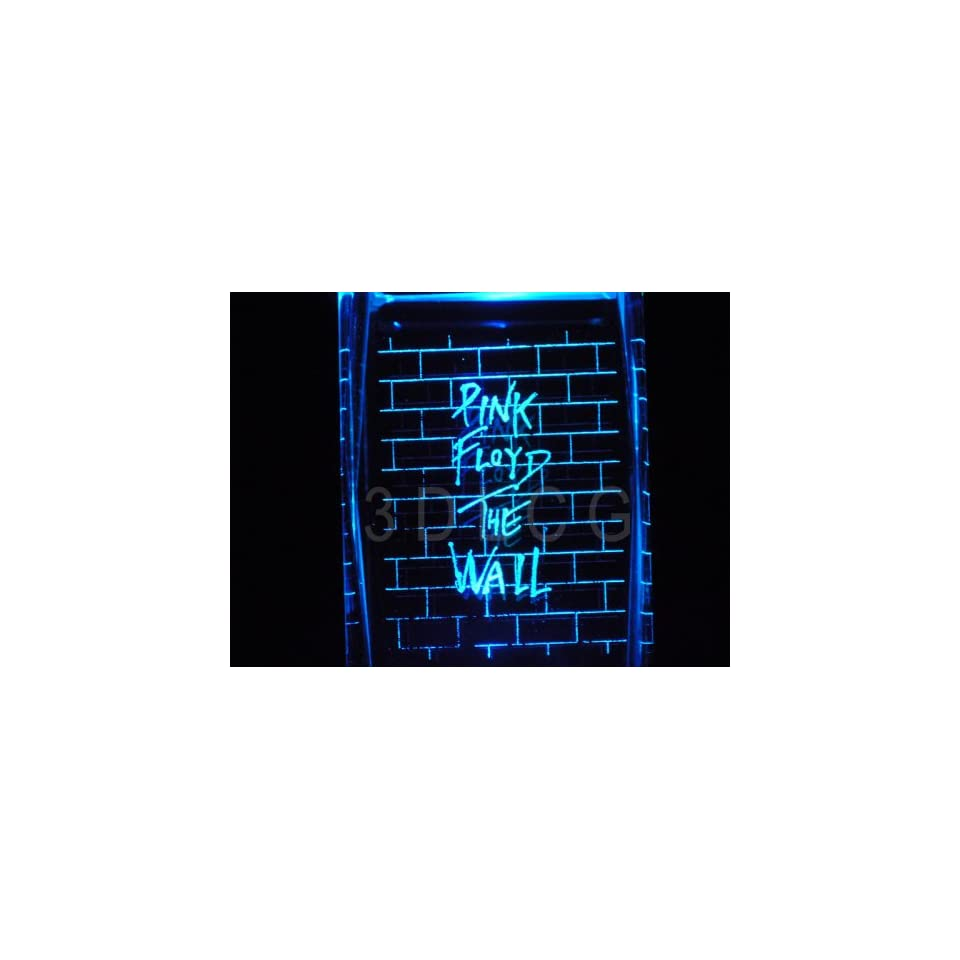PINK FLOYD THE WALL 2D Laser Etched Portrait Crystal