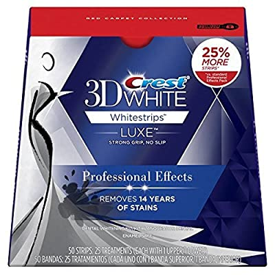 Crest 3D Luxe Whitestrips Professional Effects Teeth Whitening Kit, 20 Treatments, 40 Strips