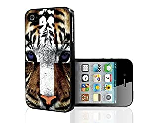 When Brown and White Bengal Tigers Cross with Blue Eyes Hard Snap on Phone Case (iPhone 5/5s)