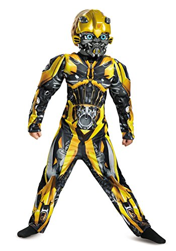 Disguise Bumblebee Movie Classic Muscle Costume, Yellow, Large