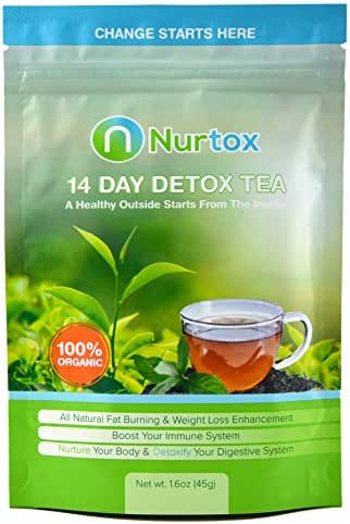 Nurtox: The Best Detox Tea on Amazon- Organic, 100% Natural Herbal Tea Blend- 2-Week Program To Help Lose Weight, Reduce Bloating, Cleanse Your Body, Improve Digestion, & Appetite Suppressant (45 GR)