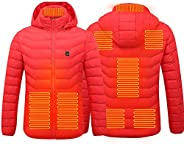 Electric Heated Jackets Vest Down Cotton Outdoor Coat USB Electric Heating Hooded Winter Thermal Warmer Jacket