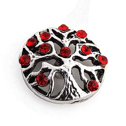 (18mm 3D Rhinestone Drill Snaps Chunk Charm Button For Noosa Leather Bracelets 84)