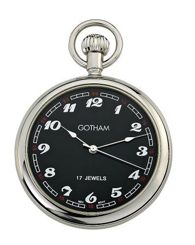 Gotham-Mens-Classic-Silver-Tone-17-Jewel-Mechanical-Pocket-Watch-GWC14048SB
