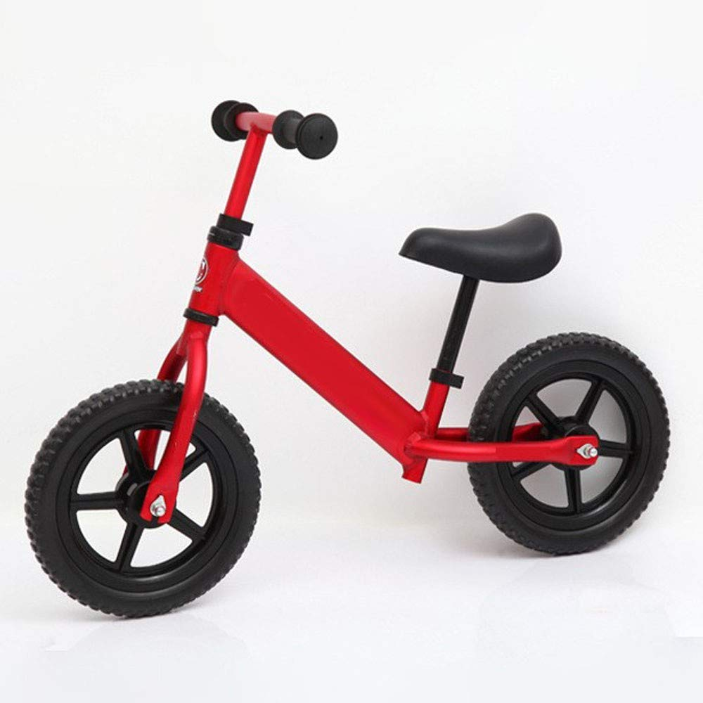 Red TongT16 No Pedal Twowheeled Training Bicycle Kids Bullet Balance Bikes Adjustable Height 12 Inch Aluminum Alloy Lightweight Body Design Girls Boys Aged 15 Years Birthday Present W15