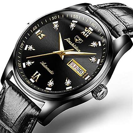 RTVDA Nuevos Relojes Mecánicos Impermeable Luminoso Hombre Automático Acero Fino Doble Calendario Relojes de Moda de