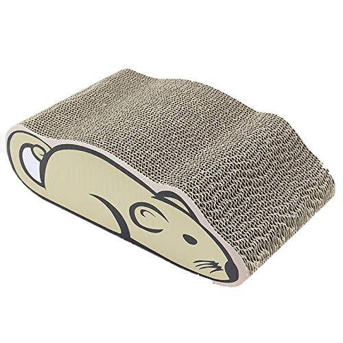 Cat Scratch Board Corrugated Paper Mouse Type Cat Toy Pet Supplies 36  20  11.5CM