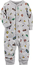 Baby Boys 0M-9M Snap up Cotton Sleep and Play