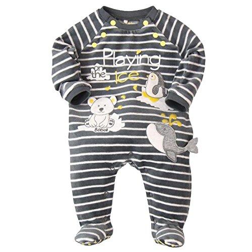 boboli, PELELE TERCIOPELO - Pelele para bebés, color listado bicolor, talla 0 meses: Amazon.es: Ropa y accesorios