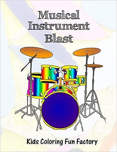 Amazon.com: Musical Instrument Blast: Music themed coloring ...