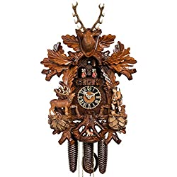 Cuckoo Clock - Painted 8-Day with Moving Hunter - HÖNES