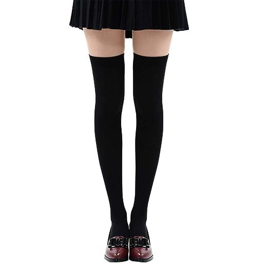 dc4b2361654 YANN Valentine Long Cotton Thigh High Socks Over the Knee Knit High Boot  Stockings Cotton Leg