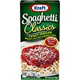 Kraft Spaghetti Classics Tangy Italian Easy Pasta Meal with Spaghetti, Spice Mix & Parmesan Cheese, 8 oz Box (Pack of 12)
