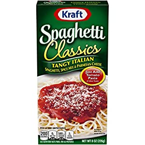 Kraft Spaghetti Classics Tangy Italian Easy Pasta Meal with Spaghetti, Spice Mix & Parmesan Cheese (8 oz Boxes, Pack of…