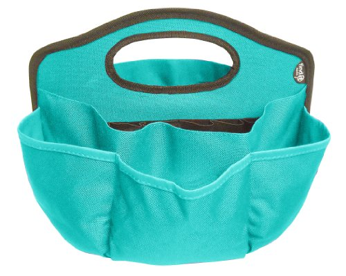 Find It Supply Caddy, 8.75 x 12 Inches, Canvas, 6 Pockets, 6 Compartments, 10 Storage Loops, Teal (Organizer Handle Tote)