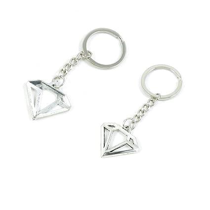 Amazon.com: Forma de diamante llavero bisutería abalorios ...